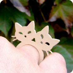 Anel Love Cats -