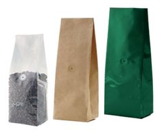 coffee bags side gusseted bags