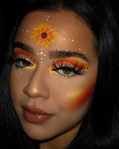 16 Halloween makeup ideas that are anything but easy # . - 16 Halloween makeup ideas that are far from easy make up - Makeup Eye Looks, Eye Makeup Art, Colorful Eye Makeup, Crazy Makeup, Cute Makeup, Gorgeous Makeup, Pretty Makeup, Eyeshadow Makeup, Prom Makeup
