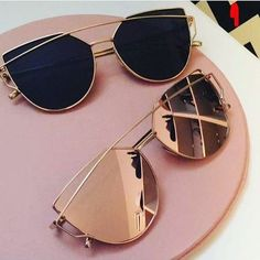 Sia Sunglasses in Black and Rose Gold