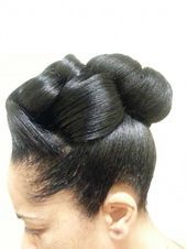 Read more about Black hairstyles for teenagers - Wedding & Bridesmaid Hairstyles Black Braided Hairstyles Updos, Permed Hairstyles, Little Girl Hairstyles, Twist Hairstyles, African Hairstyles, Braided Updo, Black Hair History, Sophisticated Hairstyles, Updo Styles
