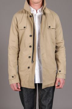 Rainier Twill Khaki Jacket / by MG Black Label