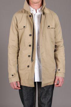 Rainier Twill Khaki Jacket / by MG Black Label