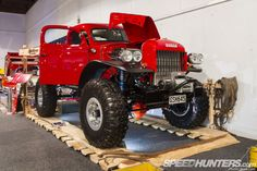 """1950 Dodge Power Wagon built by Legacy Classic Trucks in Wyoming :: Shortened chassis & a 3"""" cab chop, a custom three-link front and four-link rear suspension, and a 480hp Chevy EROD 376ci V8 running into a TH400 trans and an Atlas transfer case."""
