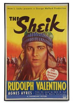 """Original 1938 Movie Poster from """"The Sheik"""" http://Theriaults.com"""