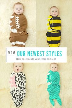 We are very excited to finally get our new and improved swaddle in these 4 super cute small batch designs! They are available at a special launch price until 09/30/16
