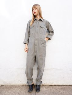 Flight Suit Coveralls 80s sz. up to 35 Waist