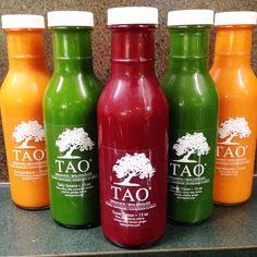 Cold-pressed juices. #rawfood #rawvegan #taoorganics #cafebytao #northvan #northshore #northvancouver #vegan #organic #wheatfree