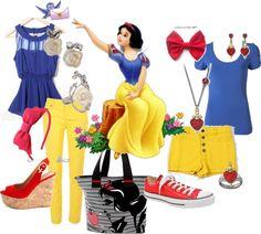 """Disney's Casual Snow White"" by vitagrl12489 on Polyvore"