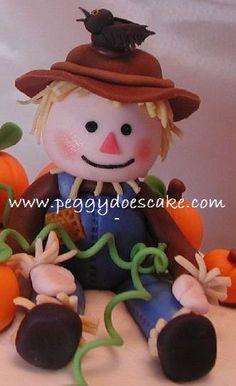 *SUGAR ART ~ Fondant Scarecrow 2 by peggyslee, via Flickr