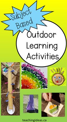 Take learning outside with this collection of over 60 outdoor education ideas for all subject areas. #outdooreducation #outdooreducationactivities #outdooreducationactivitiesforkids #outdooreducationelementary #outdoorlearning