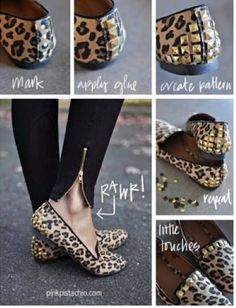 DIY Sequin Shoes