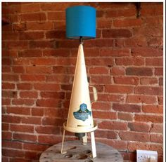 Upcycled 1950s Fire Extinguisher Light | #UpcycledLight | Created by Upcycled Creative, Derby | www.upcycledhour.co.uk