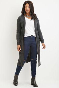 Plus Size Longline Cardigan | Plus size outfits | Pinterest ...