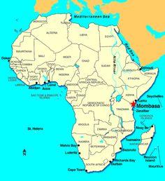 africa map mombasa