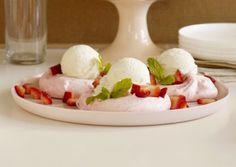 Strawberry Meringue Nests Recipe | Vegetarian Times