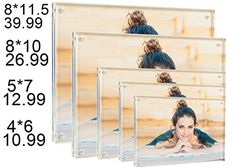 Sunscope Magnetic Photo Frame for Pictures or Awards Clear Acrylic 85 X11 and 1010MM Thickness Rounded Corners Pack of 1 * Read more  at the image link.