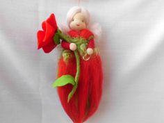 Jahreszeitentisch - Mohnblumen - Fee - ein Designerstück von Feenundmehr bei DaWanda