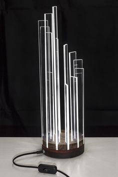 12 Source by christiantoniol Led Light Design, Lighting Design, Light Art, Lamp Light, Plexiglas Led, Laser Cut Lamps, Verre Design, Led Projects, Led Diy