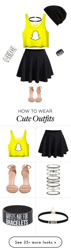 """""""Cute Chic Outfit"""" by jubileespears on Polyvore featuring WithChic, Stuart Weitzman, Rick Owens, Accessorize, outfit and snapChat"""