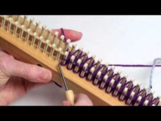 Stockinette Stitch in double knit on the knitting board - YouTube
