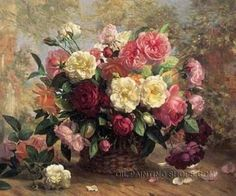 Gallery Stretched Oil Paintings Artists Still-Life Flower Oil Paintings Bouquet