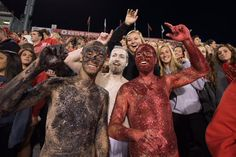 The Glitter Guy picked up a couple friends in the offseason, and they all sported the shine for the Redbird Football home opener on Sept. 12, 2015.
