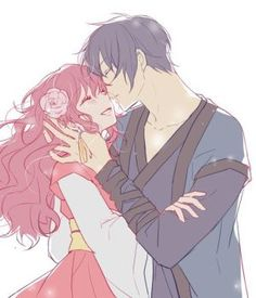 Yona and Haku ok this is actually one of the cutest pictures of them I have seen yet