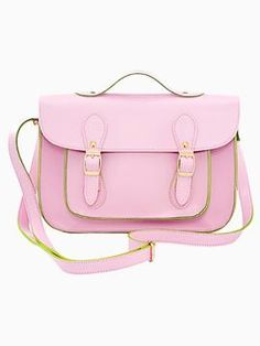 Shop Pastel Pink Satchel Bag with Twin Pin Buckle from persunmall.com .Free shipping Worldwide.  http://www.persunmall.com/product/pastel-pink-satchel-bag-with-twin-pin-buckle_p75