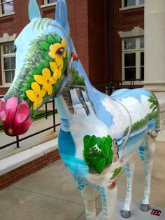 'Tropical' painted horse in Newnan, GA  (love the hibiscus nose)!!