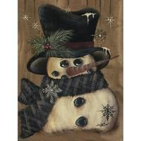 how to make a snowman out of logs Christmas Canvas, Christmas Paintings, Christmas Wood, Christmas Signs, Christmas Pictures, Christmas Snowman, Christmas Projects, Winter Christmas, Vintage Christmas