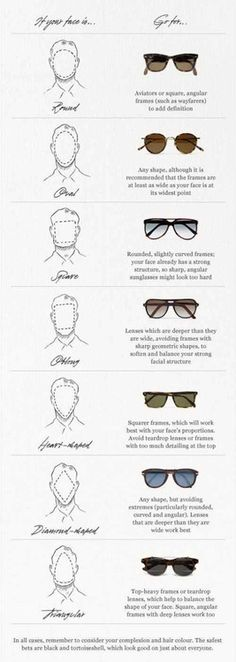 How to choose the perfect pair to suit your face Via