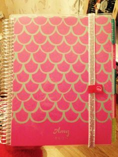LOVE these cover colors with the gold bands!  #eclifeplanner