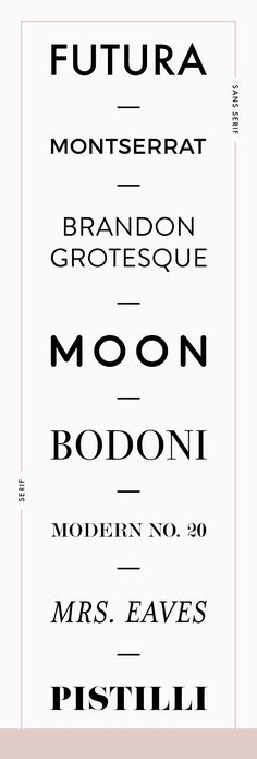 Favorite fonts for branding by Reux Design Co. - a great combination of serif and sans serif Typography Letters, Graphic Design Typography, Modern Typography, Typography Meaning, Hand Lettering, Typo Design, Modern Logo Design, Best Logo Design, Identity Design