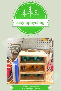 Easy Upcycling: Upcycle Motor Oil Bottles into a Workshop Storage System