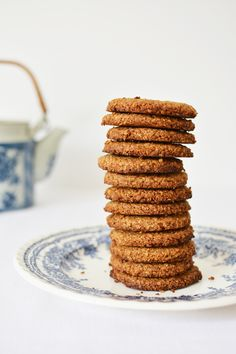 Baking Recipes, Cookie Recipes, Pastry School, Bread Cake, Healthy Cookies, Oatmeal Cookies, Fodmap, Bakery, Food And Drink