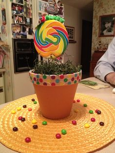 Centerpiece for the very hungry caterpillar party theme