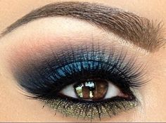 rich navy smokey and taupe shimmer