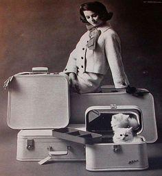 Vintage 1963 Seventeen Magazine Luggage Ad - Lady Balitmore