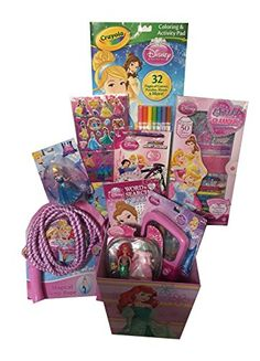 Gift it baby bandana drool bibs unisex 4pack gift set for drooling the deluxe disney princess gift basket perfect for easter christmas birthdays get well and other occasion negle Gallery