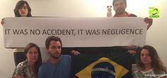 Brasileiros protestam contra a BHP na Austrália