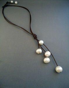 collier cordon et perles: