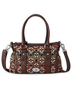 a7e7a2258b8 Fossil Handbag, Maddox Tapestry Satchel - Macy s Fossil Handbags, Satchel  Handbags, New Wardrobe