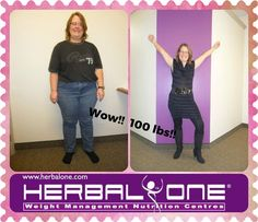 """""""a year ago I began my weight loss journey, filled with hope, dread and fear of failure. The support of the staff  helped me to familiarize myself with the program, even with my hectic schedule. Despite a three week beach vacation, 214 nights on the road for work, a seven room house renovation, and a serious illness in the family, I stayed on track and reached my goal on my target date! I am so grateful for the support of my family, friends, co-worker, & Herbal One"""