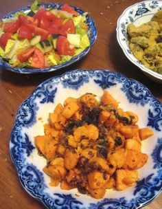 ways: mustard greens with coconut milk, and sweet potato with cardamom ...
