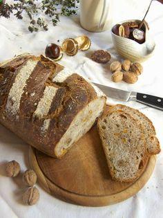 Herbstliches Kürbis-Schalotten-Dinkelbrot für den World Bread Day 2014 - Pumpkin-Walnut-Spelt-Bread for World Bread Day 2014