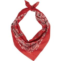 Saint Laurent Paisley-print cotton bandana scarf (470 BRL) ❤ liked on Polyvore featuring accessories, scarves, bandana, red, lightweight shawl, red bandana, holiday scarves, red paisley bandana and paisley shawl