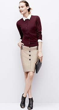 Loving this trench inspired skirt for the office