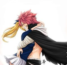 Awwww this is Lucy and Natsu after not seeing each other for a long time