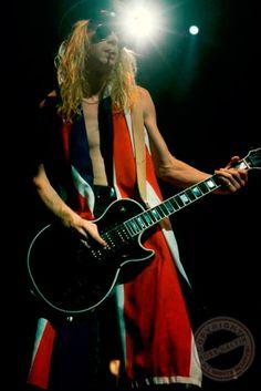 """80s-sleaze-metal: """" Steve Clark With """"All-Black"""" Gibson Les Paul Custom. """""""